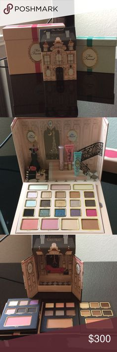 Too Faced make up Christmas in Paris Too Faced cosmetics make up Christmas in Paris three-piece doll houses New original boxes never used Too Faced Makeup