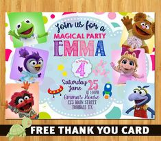 Items similar to Muppet Babies invitation - Muppet Babies Birthday invitation - Muppet Babies Invite on Etsy Disney Junior Birthday, Twin Birthday Parties, Third Birthday, Baby Birthday, Birthday Ideas, Disney Mickey Mouse Clubhouse, Muppet Babies, Baby Invitations, Baby Shower