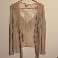 Billabong fringe sweater Cute lightweight fringe sweater from billabong perfect for spring and summer Billabong Sweaters Cardigans