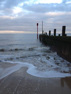 English beach in January