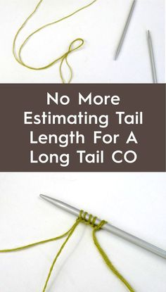 Use this technique to avoid estimating for a long tail cast on. You'll get t… Use this technique to avoid estimating for a long tail cast on. You'll get the neat edge of the long-tail method without the fuss. Knitting Help, Knitting Stitches, Knitting Needles, Knitting Yarn, Hand Knitting, Knitting Patterns, Stitch Patterns, Cowl Patterns, Knitting Machine
