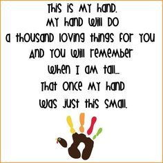Great craft idea to preserve little hands