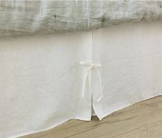White Bed Skirt with Box Pleats and Ties Romantic Room, Romantic Homes, Ruffle Bedding, Linen Bedding, White Shower, White Bathroom, White Bed Skirt, Bed Sizes, Natural Linen