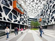 Atrium/ Courtyard_facade / perforated / atrium / 3d model