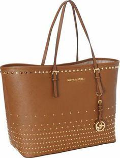 MICHAEL Michael Kors JS Travel Stud Degrade Medium Tote Luggage - via eBags.com!