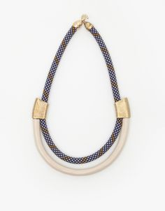 ROXBURY NECKLACE IN VIOLET: Orly Genger by Jaclyn Mayer