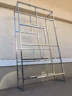 A personal favorite from my Etsy shop https://www.etsy.com/listing/277981080/chrome-etagere-in-the-manner-of-milo #milobaughman #vintage #etagere #decor #homedecor