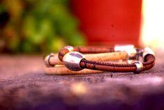 Pulsera vegana, pulsera mujer, pulsera hombre, pulsera corcho, pulsera natural, regalo especial, pulsera artesana, hecha a mano, pulsera original. ▪●♦◊Ѻ◊♦●▪ Vegan bracelet, woman bracelet, man bracelet, corck,handmade, especial gift, origina bracelet, natural jewellery.