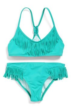 Billabong Fringe Bikini (Big Girls) available at #Nordstrom
