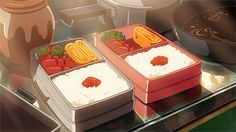 >>>Cheap Sale OFF! >>>Visit>> Hello and welcome to the anime cookbook! The place for all things anime food related. Ill mostly. Anime Bento, Think Food, I Love Food, Aesthetic Food, Aesthetic Anime, Main Manga, She And Her Cat, Casa Anime, Anime Gifs