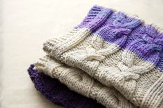"""How to Knit a Blanket- a simple """"recipe"""" to determine the number of stitches to cast on."""