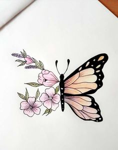 Drawings 35 Ideas For Tattoo Butterfly Sketch Pencil Drawings Drawing Butterfly . - Drawings 35 Ideas For Tattoo Butterfly Sketch Pencil Drawings Drawing Butterfly butterfly Drawing D - Easy Pencil Drawings, Cool Art Drawings, Art Drawings Sketches, Tattoo Sketches, Tattoo Drawings, Drawing Ideas, Drawing Drawing, Mandala Drawing, Drawings With Colored Pencils