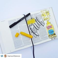 @hanwrittenco has whimsically journaled Matthew 17:20 about faith like a mustard…