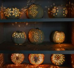 Some intricate pumpkin carvings taken at The Great Jack O' Lantern Blaze