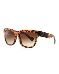 Opulence+Leopard-Print+Sunglasses+by+Anna-Karin+Karlsson+at+Bergdorf+Goodman.