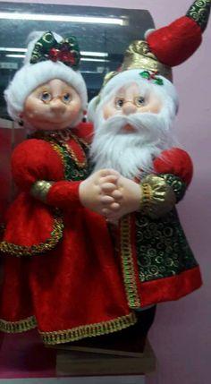 pareja navideña