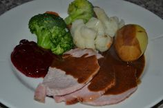 Røkt svinekam i ovn Steak, Beef, Food, Meat, Essen, Steaks, Meals, Yemek, Eten