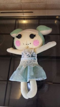 Lalaloopsy imitation doll, pattern from craftsy, dress own design
