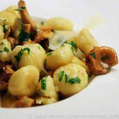 lamiacucina - Parmesan-Gnocchi mit Pfifferlingen