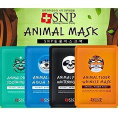 [SNP Cosmetic] Animal Mask 1ea - 4 Type (Total 4 Types - 8 Sheets) SNP Cosmetic http://www.amazon.com/dp/B015MIWEY4/ref=cm_sw_r_pi_dp_-YExwb0RQPCMY