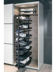 Häfele e link Online Catalogue - Furniture Fittings - Living Room, Bedroom, Bathroom and Storage Space Equipment - Wardrobe Fittings and Accessori. - Шкаф в прихожей - Furniture Shoe Rack Pull Out, Best Shoe Rack, Diy Shoe Rack, Shoe Rack With Shelf, Rotating Shoe Rack, Shoe Wardrobe, Wardrobe Storage, Walk In Wardrobe Design, Stackable Shoe Rack
