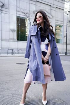 The cutest trench coat for all your Spring and Fall occasions!  Perfect this street style trench coat look with a dress or denim.  See the full look with styling tips inside!  #trenchcoat #streetstyle #officestyle #itsbanana || alilyloveaffair.com