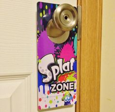 Splatoon FREE US SHIPPING Door Hanger Sign Dry Erase Nintendo Wii U Amiibo Paintball