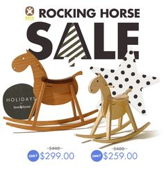 beck to nature wood rocking horse SALE at fawnandforest.com
