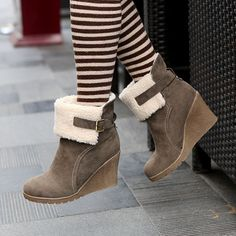 Aliexpress.com : Buy 1029NBD 2012 fashion sexy snow boots zipper wedges boots round toe fashion high heeled shoes from Reliable BOOTS suppliers on ENMAYER CO., LIMITED $59.80