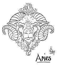 Aries Ram Tattoo Design by Pixel-Slinger on DeviantArt Aries Zodiac Tattoos, Aries Ram Tattoo, Free Tattoo Designs, Tattoo Designs For Women, Head Tattoos, Cute Tattoos, Celtic Tattoo Symbols, Deviantart Tattoo, Tattoo Project