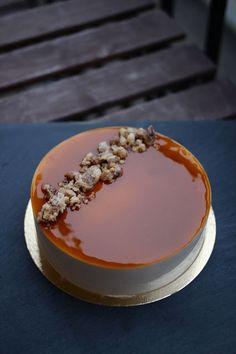 Walnut mousse cake