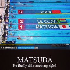 YES MATSU! But I really appreciated his positive attitude during the anime so plus points to our little idiot♡ (Maybe he should've been in Free! instead...)