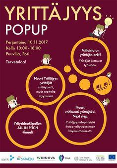 POPUP-yrittäjyyspäivä posteri (2017)