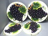GRAPES 3-D Stove / Burner Covers Set of 4 Grapes *NEW*:Amazon:Appliances