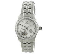 This lovely and elegant Bulova watch features 10 diamonds on the dial & 34 diamonds on the bezel for a touch of glamour. Bulova Watches, Pearl Bracelet, Diamonds, Glamour, Touch, Pearls, Elegant, Bracelets, Accessories