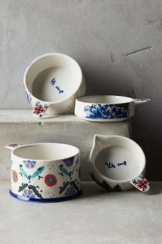 Being Bohemian: House & Home Favorites Ceramic Clay, Ceramic Pottery, Interior Design Living Room, Living Room Designs, Decorating Your Home, Interior Decorating, Anthropologie Home, Easy Home Decor, Measuring Cups