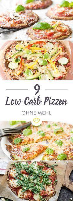 Pizza-Genuss ohne Weizenmehl: Zucchini, Blumenkohl, Thunfisch, Kichererbsenmehl und Chia Samen werden zu 9 knusprigen Böden für leichte Low-Carb Pizzen. Vegan Pizza, Healthy Pizza, Lowcarb Pizza, Healthy Cooking, Pizza Recipes, Low Carb Recipes, Diet Recipes, Healthy Recipes, Yummy Recipes