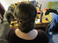 Trying out different hair styles. Made by Maria Østerby.