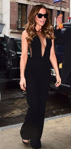 Kate Beckinsale in Georges Chakra out in NYC. #bestdressed