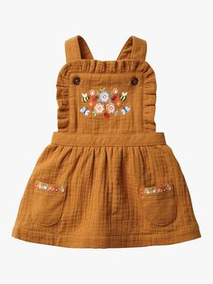 Floral Embroidered Pinafore - Butterscotch Brown Embroidery Source by ohjoy clothes Fashion Kids, Baby Girl Fashion, Pinafore Dress, Baby Kids Clothes, Family Clothes, Vintage Baby Clothes, Summer Clothes, Kids Clothing, Mini Boden