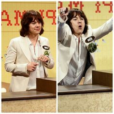 He played Mick Jagger in a sketch ! Harry really looks like him and Harry's Mick Jagger impression was really good !
