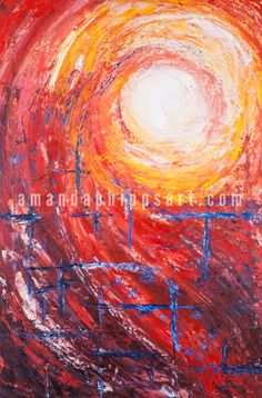 "SOLD ""Swept Away"" Abstract oil painting on canvas 24x36x1"""