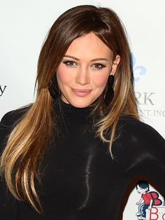 There's nothing harsh about Hilary Duff's ombre hair color, which features tips that are just a couple shades lighter than her rich, dark roots. Photo Credit: Courtesy of iVillage via StyleList