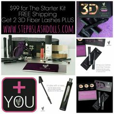 Right now is the perfect time to join my Younique team. Our newly redesigned 3D Fiber Lashes PLUS pre launched July 1st!  We fully launch it July 15! Right now till our millionth mascara sold you get your kit for ONLY $99 FREE shipping! & you get not one, but two! 3D Fiber Lashes! If you ever thought about joining my team & I, nows definitely the time. www.stephslashdolls.com