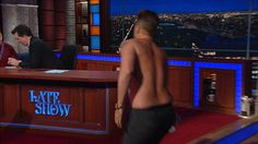 wtf omg stephen colbert surprise shirtless election 2016 rob lowe late show debates late show live #humor #hilarious #funny #lol #rofl #lmao #memes #cute