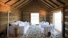 Powdery white sand, warmed by underfloor heating, spills into the living spaces of this hotel in Comporta, creating a seamless connection to the beach beyond. Design Hotel, Built In Furniture, Furniture Making, Villas, Bungalow, Sand Floor, Hotels Portugal, Rural House, Best Boutique Hotels