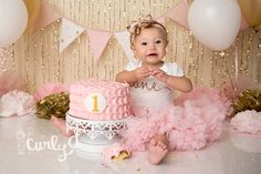 Smashing Princess | Quantico Cake Smash Photographer - Northern VA Newborn-Baby-Child-Family Photographer | Custom Natural and Studio Light Photography