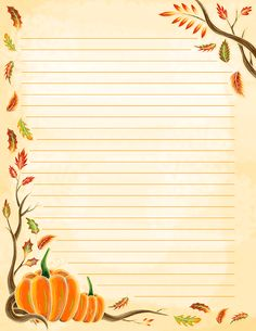 Free printable watercolor fall stationery in JPG and PDF formats. The stationery. Printable Lined Paper, Free Printable Stationery, Paper Tags, Diy Paper, Paper Crafts, Journal Paper, Stationery Paper, Note Paper, Writing Paper