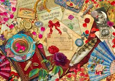 Aimee Stewart Digital Art - Vintage Love Letters by Aimee Stewart