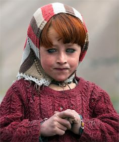 Girl from the village of northern Pakistan